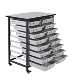 Luxor  Mobile Bin Storage Unit - Double Row  Model Number- MBS-DR-16S