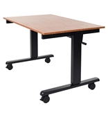 "Luxor 48"" Crank Adjustable Stand Up Desk Model Number- STANDCF48-BK/TK"