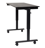 "Luxor 60"" Crank Adjustable Stand Up Desk Model Number- STANDCF60-BK/BO"