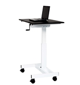 "Luxor 40"" Single Column Crank Stand Up Desk Model Number- STANDUP-SC40-WB"