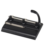Master Adjustable 32-Sheet 3-Hole Punch, 11/32 Inches Punch Heads for Convenient 2 or 3-Hole Punching