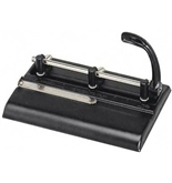 Master Adjustable 32-Sheet 3-Hole Punch  Adjustable 13/32 Inches Punch Heads Black