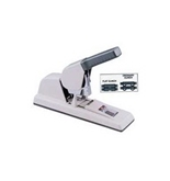 Max HD-12F High-Capacity Flat-Clinch Heavy-Duty Stapler, 150 Sheet Cap, Gray