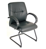 MAXX GUEST LEG470 LEATHER EXECUTIVE CHAIR