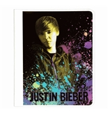Mead Justin Bieber Composition Book, 80CT Wide Rule, Black Design (72611)