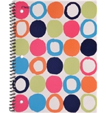 Mead Shape It Up Notebook, 10-1/2 x 8-Inches, 1-Subject, 70ct, WR, Circles (72094)