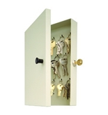 MMF Industries 14-Key Hook-Style Steel Key Cabinet with Key Lock (201201489)