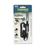 MMF Industries Counterfeit Detector Pen with Adhesive Holder, 5.5 Inches, Black Barrel (200045204)