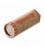 MMF Industries Tubular Quarter Coin Wrappers, Orange, $10