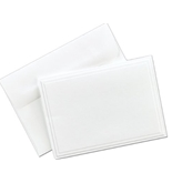 Masterpiece Studios Triple Embossed White Not Card Kit- Pack of 50 Cards & 50 Envelopes -161648
