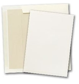Masterpiece Studios Triple Embossed Ivory Inv Kit - Pack of 25 Cards and 25 Envelopes - 1923642