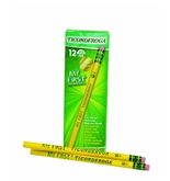 My First Ticonderoga Primary Size #2 Beginner Pencils, Box of 12, Yellow (33312)