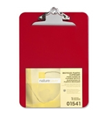 Nature Saver Plastic Clipboard, Recycled, 1- Cap, 9-X12-1/2-, Red