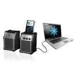NEW Set of 2 Computer Speakers with MP3 Dock (Audio/Video/Electronics)