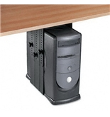 o Fellowes o - Under Desk CPU Holder, 17w x 12d x 11h, Black