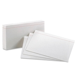 Oxford Index Cards, White, Ruled, 5 x 8, 100-Pack