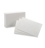 Oxford Blank Index Cards, 4 x 6 Inches, White, 100 Pack (sold as 1 pack each)