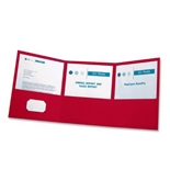 Oxford Paper Tri-Fold Pocket Folders, Letter Size, Red, 20 Per Box (59811)