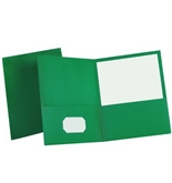 Oxford Twin Pocket Hunter Green Leatherette-Grained Portfolios 25 Count (57556)
