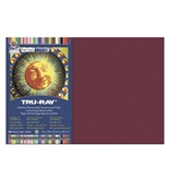 Pacon Tru-Ray 50% Recycled Construction Paper, 12 x 18 Inches, Burgundy, Pack of 50 (102946)