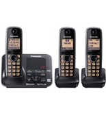 Panasonic KX-TG7623B DECT 6.0 Link-to-Cell via Bluetooth Cordless Phone, Black, 3 Handsets (KXTG7623B)