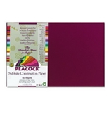 Peacock Sulphite Construction Paper, 12 x 18, Burgundy, 50 Sheet