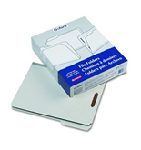 "Pendaflex 1532F13 Pendaflex File Folder With Fastener, 1/3 Cut, 2"" Expansion, Letter, Gray, 25/Bx"
