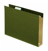 Pendaflex 4152X2 Extra Capacity 1/5-Tab Hanging Folders with Box Bottoms, Standard Green (25-Pack)
