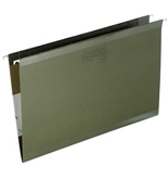 Pendaflex 4153 Reinforced Hanging File Folders, No Tab, Legal, Standard Green, 25/box