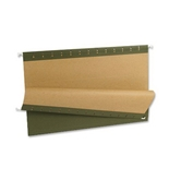 Pendaflex 81622 Recycled Standard Green Hanging File Folders, Legal, 1/5 Cut Tabs, 25/box