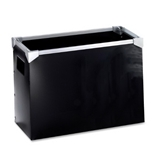 Pendaflex Poly Desktop File Box, Black, 1-Each