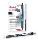 Pentel EnerGel Deluxe RTX Retractable Liquid Gel Pen, Fine Line, Needle Tip, Black Ink, Box of 12 (BLN75-A)