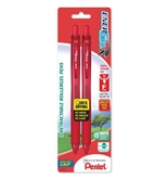 Pentel EnerGel-X Retractable Liquid Gel Pen 0.5mm, Needle Tip, Red Ink (2 Pack) (BLN105BP2B)