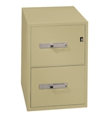 "Phoenix 2 drawer letter size vertical fire file, 25"" deep, key lock"