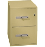 Phoenix 2 drawer letter size vertical fire file, 31- deep, key lock