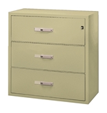 "Phoenix 3 drawer, 38"" deep, can file legal and letter size, key lock"