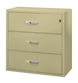 "Phoenix 3 drawer, 44"" deep, can file legal and letter size, key lock"