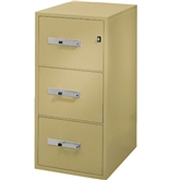 "Phoenix 3 drawer legal size vertical fire file, 31"" deep, can file legal and letter size, key lock"