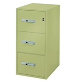 "Phoenix 3 drawer letter size vertical fire file, 31"" deep, key lock"