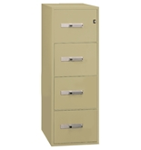 "Phoenix 4 drawer legal size vertical fire file, 31"" deep, can file legal and letter size, key lock"