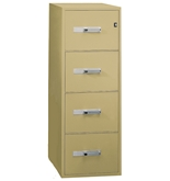 "Phoenix 4 drawer letter size vertical fire file, 25"" deep, key lock"