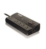 Philips SPP6061I/37 Home Office Surge Protector Smart Surge Protection with 6 Outlets, 6-Foot Cord