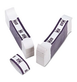 PMC55026 Color-Coded Kraft Currency Straps Dollar Bill, $50 Self-Adhesive