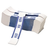 PMC55027 Color-Coded Kraft Currency Straps Dollar Bill, $100 Self-Adhesive
