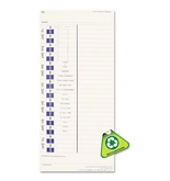 Pyramid Technologies Products - Pyramid Technologies - Time Card For Models 3500 & 3700, Weekly, 4 x 9