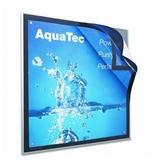 Quartet : Enclosed Matrix Sign Holder, Metal, 23 x 23, Gray - Sold as 2 Packs of - 1 Total of each