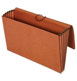 Globe-Weis/Pendaflex 100% Recycled File Wallets, 5.25-Inch Expansion, Elastic Cord Closure, Legal Size, Brown, 10-Count (73376R)
