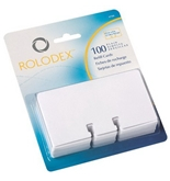 Rolodex Rotary File Card Refills, Unruled, 2-1/4 Inches Inchesx 4 Inches, 100 Cards, White (67558)