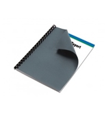 Linen Graphite Paper Letter Size Binding Cover 50 Pack