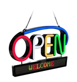RSB-1350E LED Premium Open Sign with Scrolling Message